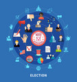 online voting circular icons set vector image