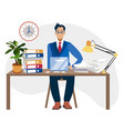 programmer at work concept can use for web banner vector image vector image