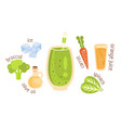recipe for a green vegetable smoothie vector image vector image