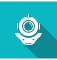 Retro diving helmet vector image vector image