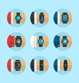 smart watches vector image vector image