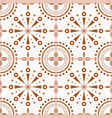 spanish or portuguese brown tiles pattern vector image vector image