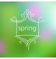 Spring logo and background vector image vector image