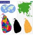 Sri Lanka map vector image vector image