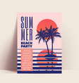 summer beach party minimalistic flyer or poster vector image