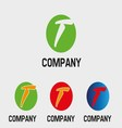 T logo Abstract icons for letter T vector image
