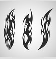 tribal tattoo art set on an isolated background vector image