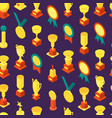 trophy cups awards seamless pattern background vector image vector image