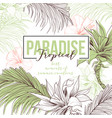 tropical hand drawn web banner vector image vector image