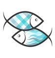two fish symbol vector image vector image