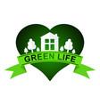 urban ecology green life logo flat concept vector image vector image