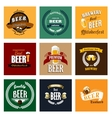 Vintage beer labels and emblems collection vector image