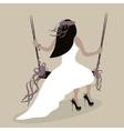 Wedding style bride vector image vector image