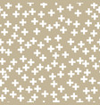 white plus sign on gold background vector image