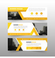 yellow triangle abstract corporate business banner vector image vector image