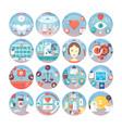 medical flat circle icons set kinds of medica vector image