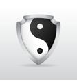 Shield with yin yang vector image