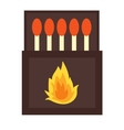 burning matches sticks vector image