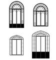 windows and doorwindows vector image