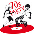 70s party vector image