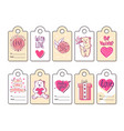 a set labels for valentines day vector image vector image