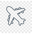 aeroplane concept linear icon isolated