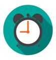 alarm clock in flat vector image vector image