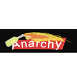 Anarchy grunge scratched logo on black vector image vector image