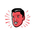 angry man furious style pop vector image