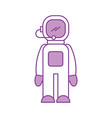 astronaut in space suit character profession vector image vector image