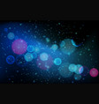 background template with blue light vector image vector image