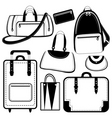 bag set vector image vector image