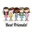 best friends design vector image