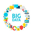 big data flat circle vector image vector image
