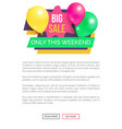 big sale only this weekend hot price promo sticker vector image vector image