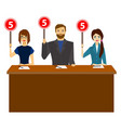 cartoon group of judges jury characters people vector image vector image
