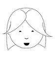 cartoon woman face icon vector image vector image
