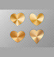 collection of golden hearts vector image vector image