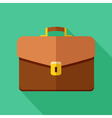 Colorful briefcase icon in modern flat style with vector image