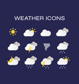 complete set of modern realistic weather icons vector image vector image