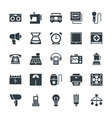 Electronic Cool Icons 5 vector image