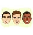 et of multiracial male avatar expressions vector image vector image