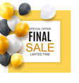 final sale balloon background vector image