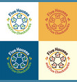 five houses logo and icon vector image vector image