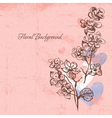 Floral background with cherry vector image vector image