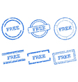Free stamps vector image vector image