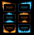 gas and fire burning flame frames borders vector image vector image