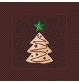Gingerbread Christmas Tree vector image