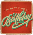 Hand-lettered vintage birthday card vector | Price: 1 Credit (USD $1)