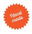 hand made stamp on white vector image